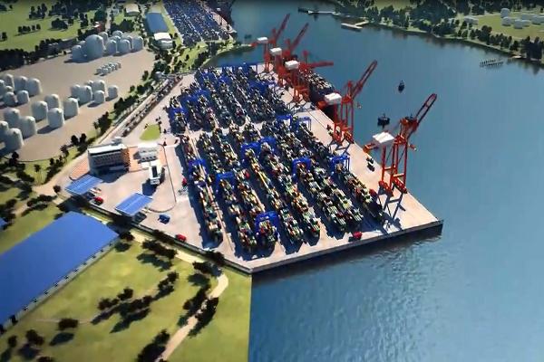 港口三维动画